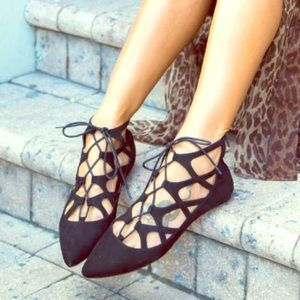 Anthropologie Shoes - Pointed Toe Ballerina Caged In Flats