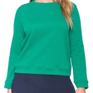 Eloquii Sweaters - Gorgeous Green Light Textured Sweater