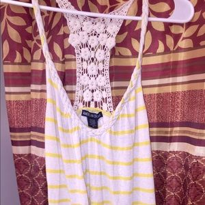 Tops - Small yellow/white tank