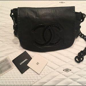 CHANEL Handbags - CHANEL :: Authentic Black Lambskin Leather Purse
