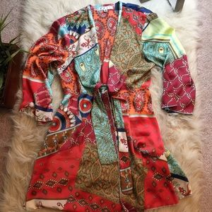 Cabi silky kimono style top