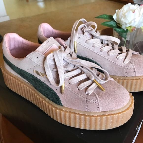buy popular 487b6 c90a3 Fenty puma Rihanna creepers pink green women's 7