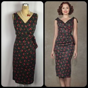 Stop Staring Dresses & Skirts - Stop Staring! Cherry & dot print VLV wiggle dress