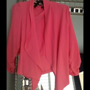 Ultralight weight hot pink blazer jacket