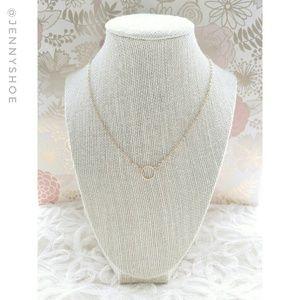 Jewelry - 🍒3/$12 sale🍒{boutique} goldtone circle necklace