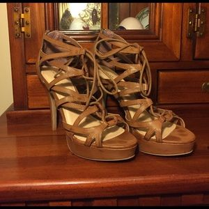 """Chinese Laundry Shoes - Chinese Laundry """"Hop Scotch"""" Heeled lace sandals"""