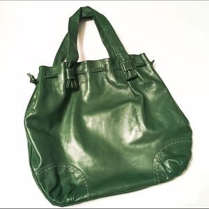 Barneys New York Handbags - Barney's New York Green FlaviOlivera Leather Bag