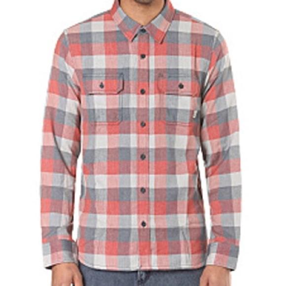 0e47b62f Vans Men's Alameda Flannel Shirt Orange Gray