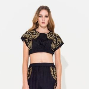Alice McCall Tops - Alice McCall black gold crop top brand new