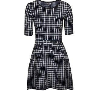 Topshop jacquard flippy dress