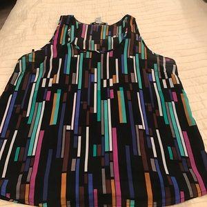 Anerican Rag Tops - Sleeveless multicolor sheet blouse