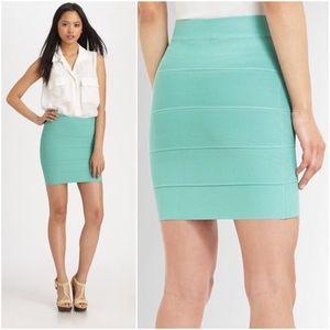 BCBGMaxAzria Dresses & Skirts - BCBGMAXAZRIA Simone Aqua Blue Power Banded Skirt M