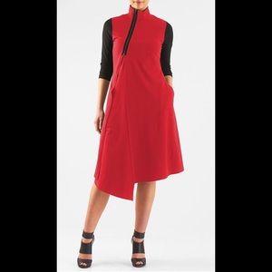 New Eshakti Red Asymmetrical Dress M 10