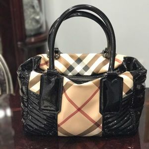 Burberry Handbags - Burberry Patent Leather Tote Bag