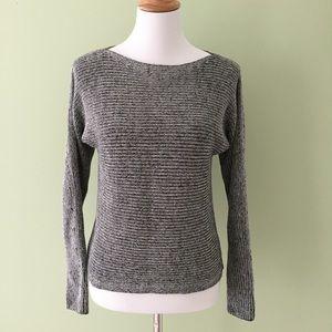 Lou & Grey Black & White Marled Knit Sweater XS