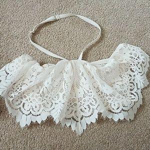 Victoria's Secret Other - Victoria's secret white lace strapless bralette