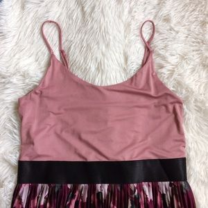 Xhilaration Dresses & Skirts - XHILARATION pink+black floral pleated maxi dress