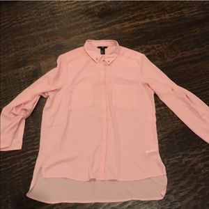 H&M Tops - H&M Long Sleeve Button Down High Low Blouse