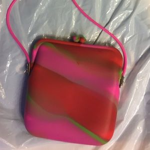 Cute colorful flexible material purse