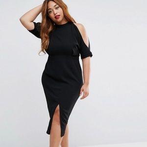 ASOS Curve Dresses & Skirts - HP🎉🎊🎉🎊🎉Asos curve black cold shoulder dress