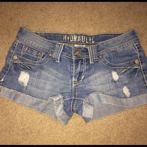 Hydraulic Pants - Hydraulic distressed short shorts