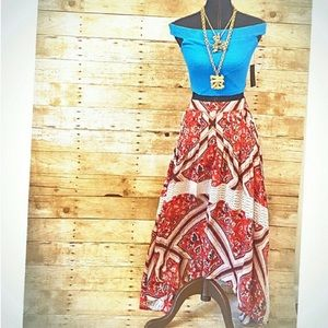 Free People Dresses & Skirts - NEW FREE PEOPLE 6 Red White Maxi Midi Skirt NWT