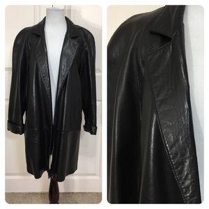 Maxima Jackets & Blazers - Maxima leather swing coat