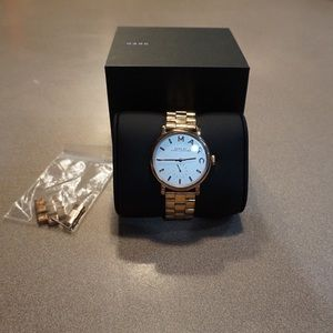 Marc Jacobs Rose Gold Baker Watch