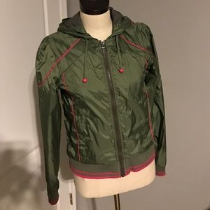 M Stussy green and hot pink jacket! Super cute!