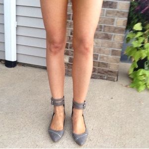Anthropologie Shoes - Distressed Buckle Zipper Flats