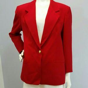 Austin Reed Jackets & Blazers - Austin Reed Beautiful Red Wool Blazer Sz 12