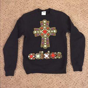 Jeremy Scott Other - Jeremy Scott Adidas beaded cross sweater crewneck