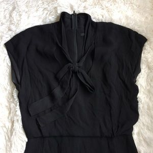 RACHEL ROY black neck tie midi length dress