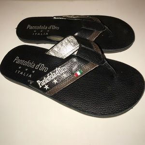 Pantofola D'oro Shoes - Pantofola d'Oro men's leather Italian sandal 8