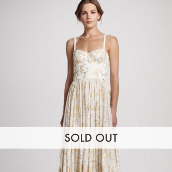 Alice + Olivia Dresses | Alice Olivia Yarra Gold Appliqu Maxi Dress ...