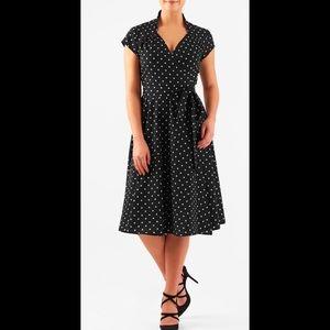 eshakti Dresses & Skirts - New Eshakti Polka Dot Fit & Flare Wrap Dress 20W