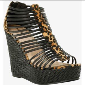 torrid Shoes - Leopard print Platform wedges.