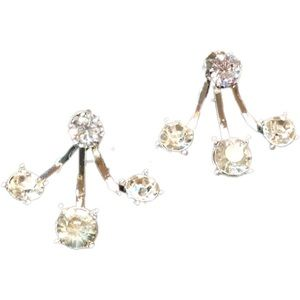 Jewelry - Solitaire Earrings with Back Accent