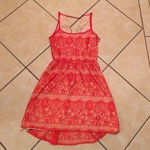 Collective Concepts Dresses & Skirts - Orange Lace Dress