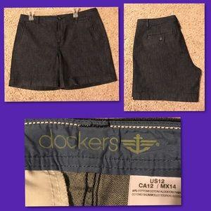 Dark Denim Dockers Shorts NWOT