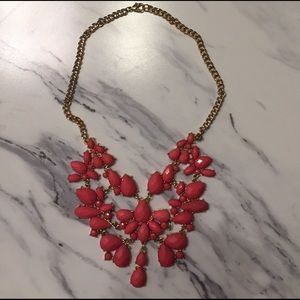 Claire's Jewelry - Coral statement necklace🌸