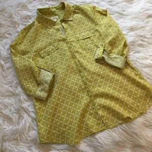 Charter Club luxury linen blouse | size large