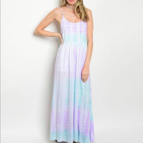Dresses New Pastel Tie Dye Maxi Dress Poshmark