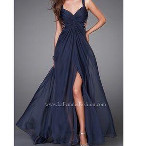 La Femme Dresses & Skirts - la femme open back crisscross cutout long dress
