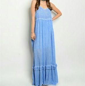 Dresses & Skirts - Boho Blue maxi dress