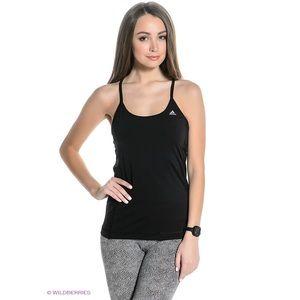 Black Adidas Clima Essentials Strap Tank