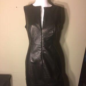 ANTONIO MELANI Dresses & Skirts - Antonio Melani black leather zip front dress