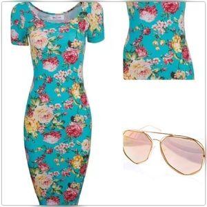 Dresses & Skirts - Sizes XL-XXL Sexy Vintage Floral Bandage Dress