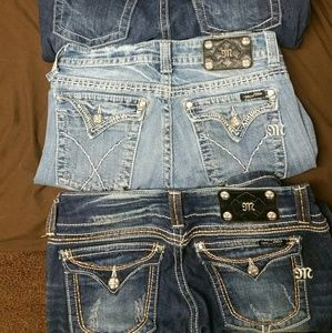 MISS ME JEANS- 4 PAIRS