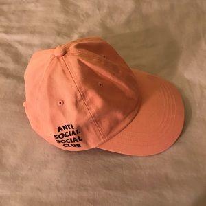 anti social social club Accessories - Anti Social Social Club Pink Cap - Weird Cap
